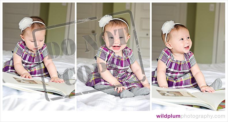 Baby in a purple dress
